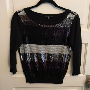 Sequined express sweater xs